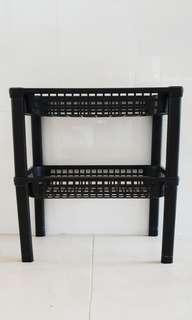 Black rack for kitchen or toilet h43x40x20cm