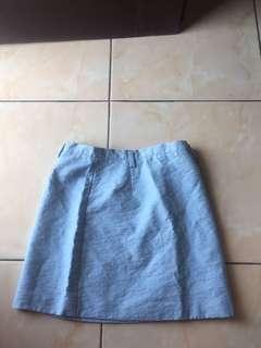 button skirt light blue / mini skirt / rok mini