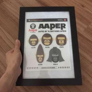 Aaper sticker pack poster frame