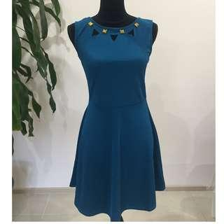 BRAND NEW Aqua Studded Sleeveless Dress