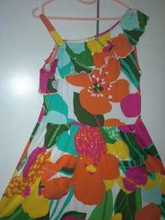 Floral Tropical One Shoulder Dress