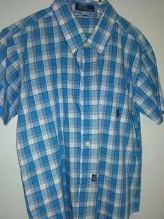 Blue Checkered Polo Ralph Lauren Boys Shirt