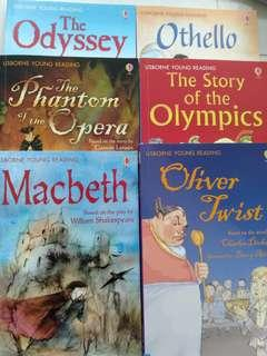 Usborne young reading- 6 books
