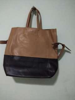 Cream Black Bag