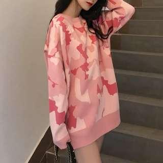 🚚 [PO] Pink Camp Oversized Sweater