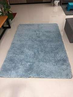Grey Fluffy Carpet