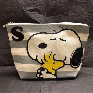 全新 正版 Snoopy & Woodstock 化妝袋 收納袋 多用途袋 Cosmetic bag / Pouch / Storage bag / Multi-purpose bag