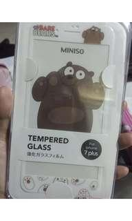Tempered glass we bare bears iphone 7 plus +