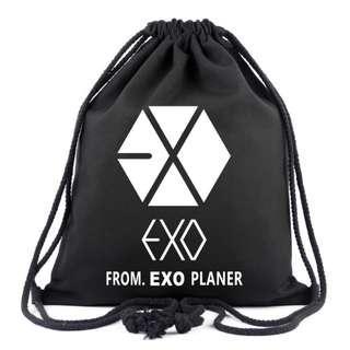Brand New EXO Design Drawstring Backpack Bag
