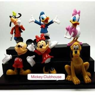 New mickey mouse clubhouse minnie guffy pluto donald daisy duck cake topper figurines toys decoration