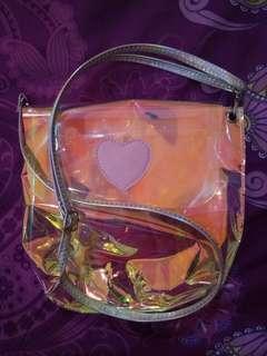 Hologram transparan slingbag