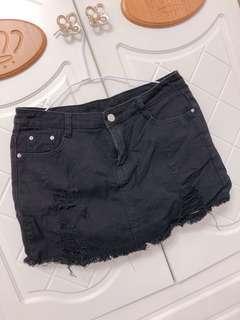 🚚 黑色牛仔褲裙