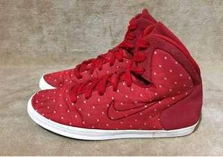 Nike red polka