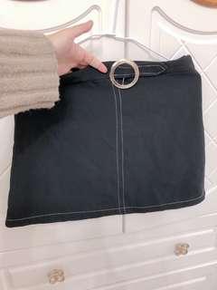 🚚 金釦造型短裙