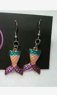 Mermaid tail earring