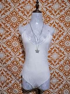 Imported White Bodysuit