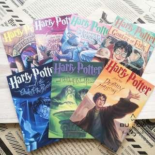 Harry Potter 7pcs in Pack Postcards - 1998 (With front+back)