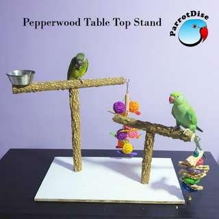 Large Parrot bird Pepperwood table top play stand