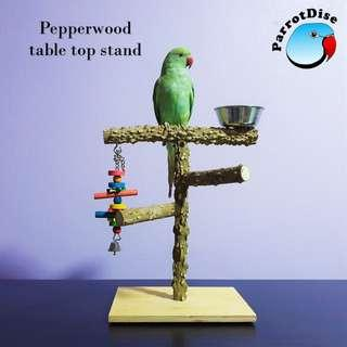Parrot Table top T stand Pepperwood