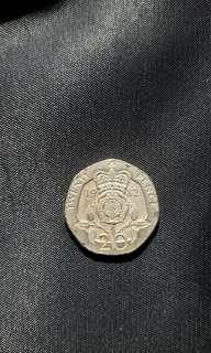Extremely Rare 20 Pence Coin 1982 20p Collectable Coins Valuable Coin