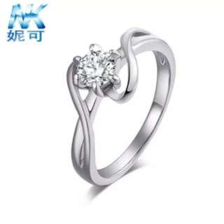 Silver Marriage Proposal Ring