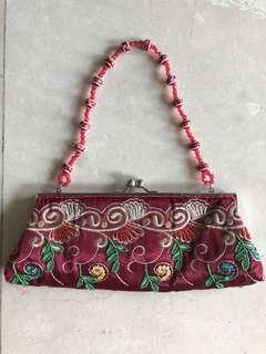 Embroidery & beads bag #DEC30