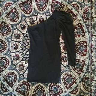 🆕 Mango One Shoulder Black Dress #PRECNY60