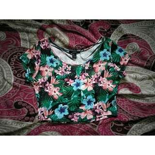 [Forever21] Crop Top (Tropical)