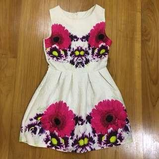 White Floral Sunday Dress