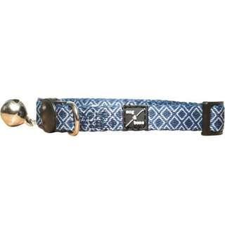 Mog & Bone Cat Collar - Navy Ikat