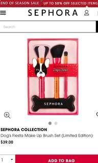 Sephora Dog's Fiesta Make Up Brush Set (Limited Edition)