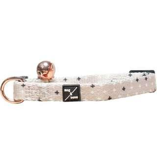 Mog & Bone Cat Collar - Oatmeal Cross