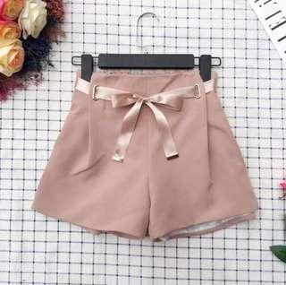 High Waist Short Khaki Pink Pants #DEC30