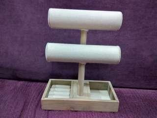 🔴木質首飾架