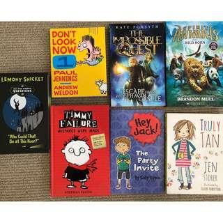 7x children's books bulk set Paul Jennings Lemony Snicket kids
