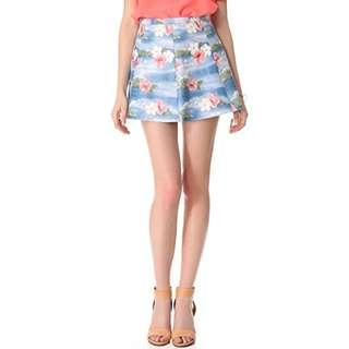 Love Leather Hawaiian Punch A-Line Mini Skirt