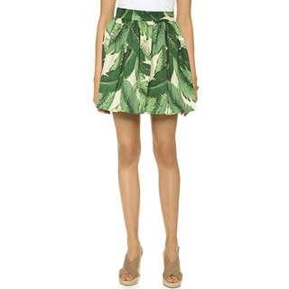 PARTYSKIRTS Palm Print A-Line Mini Skirt