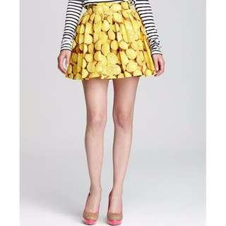 Alice and Olivia Lemon Print Skirt
