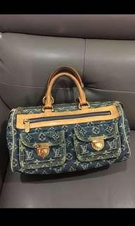💯 % authentic Louis Vuitton denim neo speedy bag