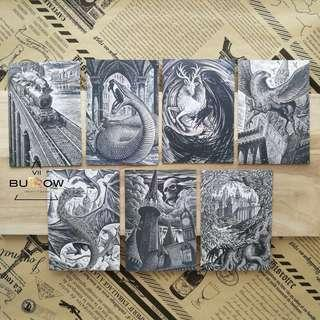Harry Potter 7pcs in Pack Postcards (front+back)