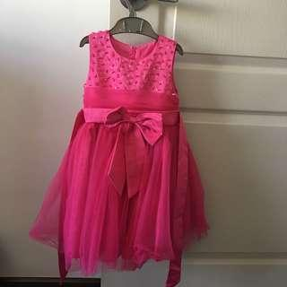 Girl Dress pink with tutu layer