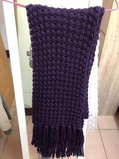 藍紫色圍巾