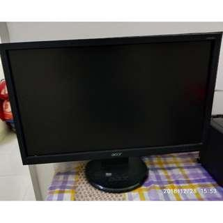 "Acer 20"" Flat Screen Monitor"