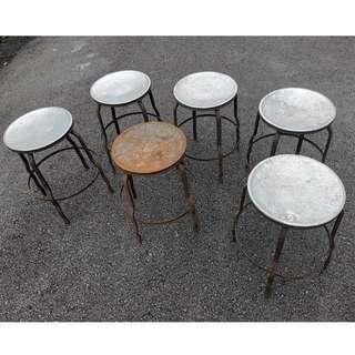Vintage Metal Kopitiam Chairs
