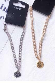 PREORDER - Pet Dog Cat Small /Large Breed Paw Print Chain Necklace