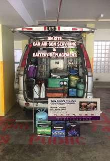 ⚡️ On Site Car Aircon servicing & car battery replacement MOBILE car air con repair car aircon service & car battery installation !