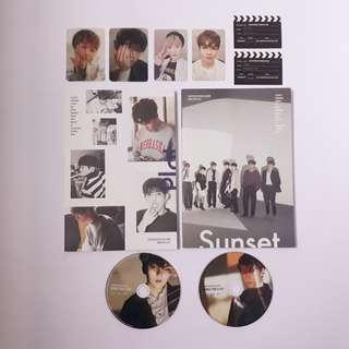 svt director's cut album + pcs + poster   plot & sunset