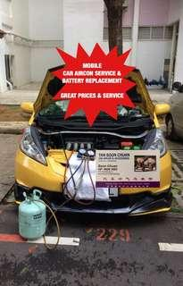 On site CAR AIR CON SERVICE CAR AIRCON SERVICING CAR AIRCON REPAIR & CAR BATTERY REPLACEMENT CAR BATTERY INSTALLATION CAR CHANGE BATTERY Call me now 96682885 ⚡️