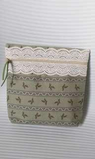 Cosmetic Bag, Pouch with Lace