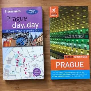2x Prague travel guides Frommer's Pocket Rough Guide